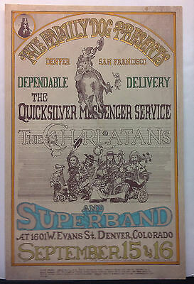FD-D2 FAMILY DOG 1967 Denver Concert Poster CHARLATANS QUICKSILVER