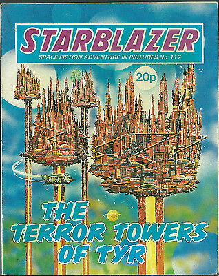 The Terror Towers Of Tyr,no.117,starblazer Space Fiction Adventure In Pictures