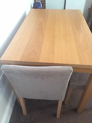 Oak Veneer Dining Table And 4 Chairs PicClick UK