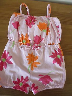 BABY GAP Girls Pink Playsuit ..Age 2 Years..100% Cotton