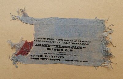 1890's Adams Black Jack Chewing Gum Wrapper