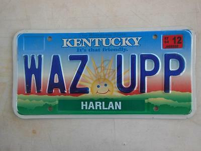 Kentucky Waz Upp Vanity License Plate Hot Rod Man-Cave What Up Whats Up Greeting