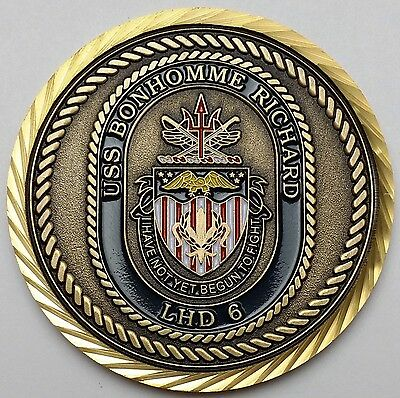 USS Bonhomme Richard LHD 6 Challenge Coin - I Have Not Yet Begun to Fight