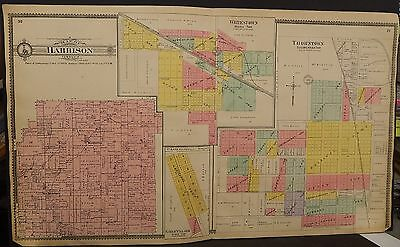 Indiana Boone County Map Harrison Township 1904 Dbl Pg  !J15#16
