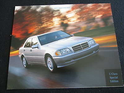 2000 Mercedes C-class Special Edition Catalog W202 C230 C280 Limited Ed Brochure