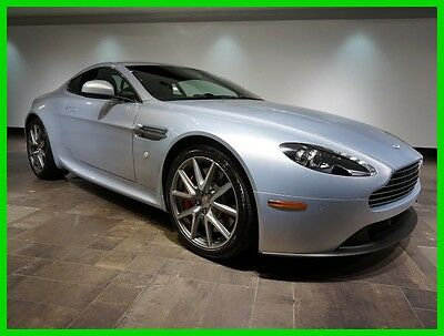 2014 Aston Martin Vantage Coupe 6 SPEED!!!! LIGHTNING SILVER LOW MILEAGE STUNNING COLOR COMBINATION!!!