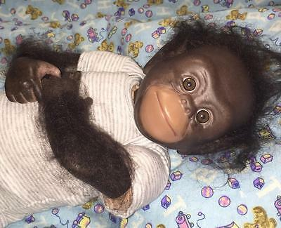 Realistic CHAZ COMPLETED FULLY ASSEMBLED Reborn Baby CHIMP Monkey Christmas Gift