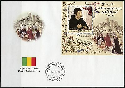 MALI 2017 500th ANNIVERSARY OF THE REFORMATION SOUVENIR SHEET FDC