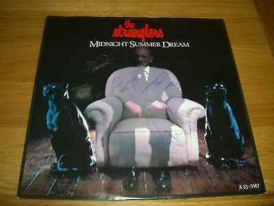 """Stranglers-midnight summer dream.12"""" signed by all 4 members."""
