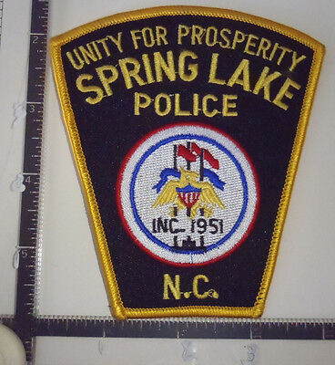 Spring Lake NC Police Patch NORTH CAROLINA Unity For Prosperity FLAGS Eagle