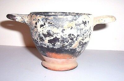 Ancient Greek Pottery Skyphos c. 5th - 4th century B.C.    (1)