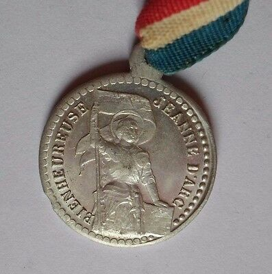 Joan Of Arc  French Pendant Medal