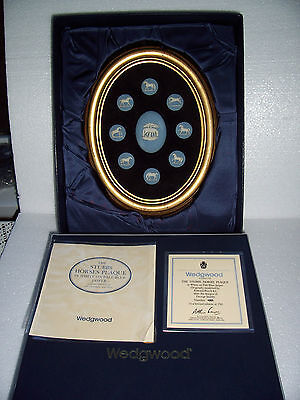 Wedgwood  Stubbs Horses plaque limited edition no.185/250 Boxed.