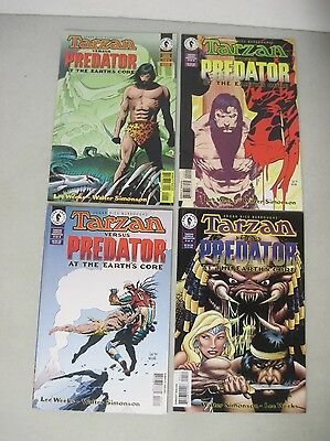 Complete Set Of Tarzan Versus Predator At The Earths Core #1-4 Limited Series