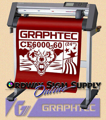 "OBO 24"" Graphtec CE6000 60 Vinyl Plotter Cutter  w Stand & Accories 2 yr  Wnty"