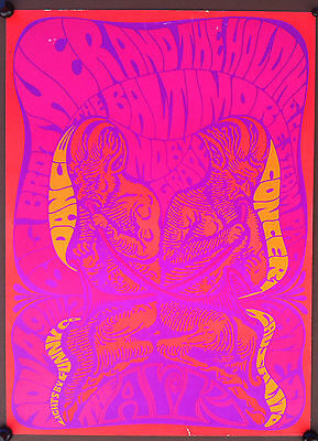 BIG BROTHER & THE HOLDING COMPANY 1967 2ND PRINT The Ark Concert Poster