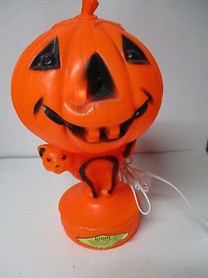 Vintage Halloween Blow Mold Light - BAYSHORE JOL ON CAT W Label