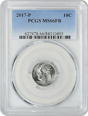 2017-P Roosevelt Dime MS66FB PCGS Mint State 66 Full Bands