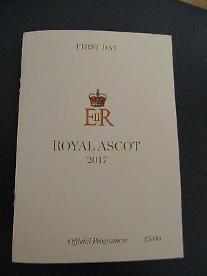 Royal Ascot Racecard First Day Tuesday 2017. ( MINT )