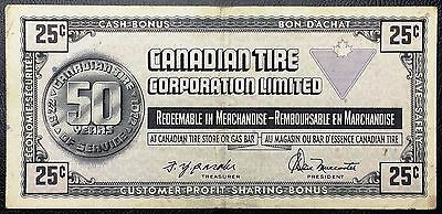 Vintage 1972 Canadian Tire 25 Cents Note - Great Condition - Free Combined S/H