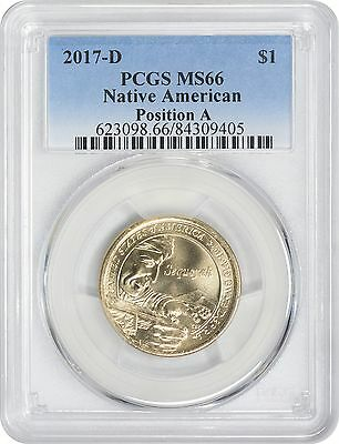 2017-D Sacagawea Dollar MS66 PCGS Mint State 66 Position A