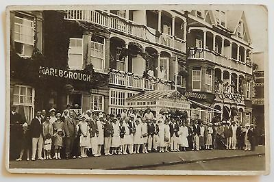 FELIXSTOWE, Marlborough Hotel, Sea Road, Suffolk - 1920's - Vintage postcard