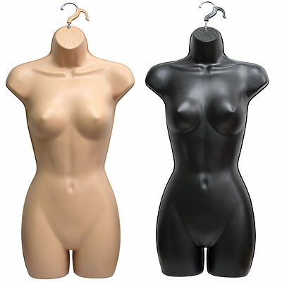 Female Hanging Full Body Mannequin Form Top Torso Display Bust Womens Quality