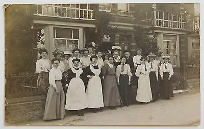 FELIXSTOWE, Queens Road Hotel, Suffolk RP - 1908 - Vintage postcard