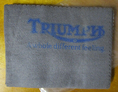VINTAGE 1970s TRIUMPH MOTORCYCLE POLISHING CLOTH T120 TR6 T20 6T T100 5T 3T TR5