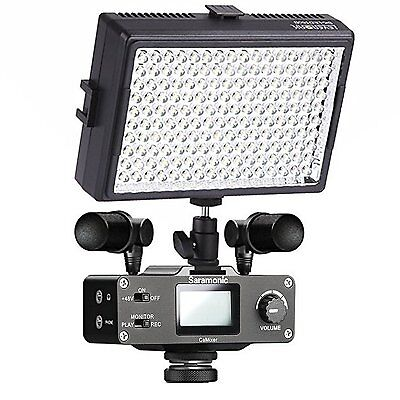 Saramonic DSLR Camera Video Kit with Stereo Microphones, Audio Mixer, LED Light
