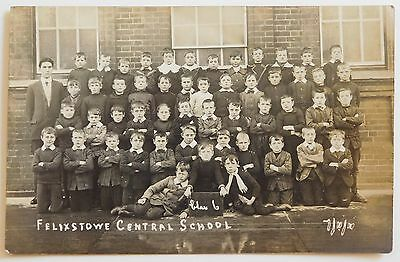 FELIXSTOWE, Central School, Suffolk RP - 1911 - Vintage postcard