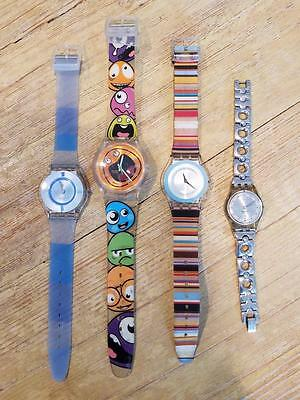 4 ladies SWATCH WATCH watches lot