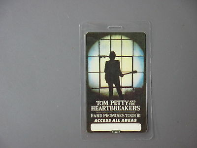 Tom Petty backstage pass Laminated Authentic Hard Promises Tour '81 !