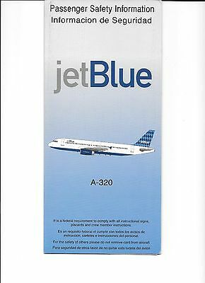 JetBlue Airlines A-320 Safety Card rev 1999