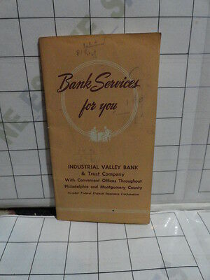 old Banking Service BROCHURE 22p Industrial Valley Bank Trust Co Philadelphia PA