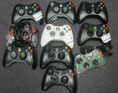lot of 10 DEFECTIVE Xbox 360 Controllers.