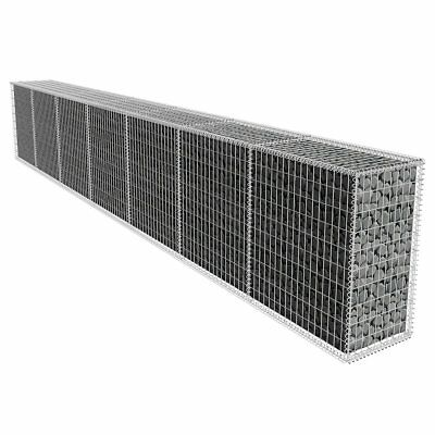 Gabion Retaining Wall Blocks Mesh Wire Stone Basket 6x0.5x1m Galvanized Steel