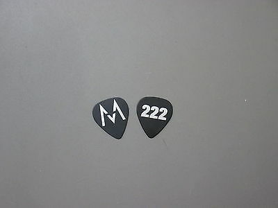 "Maroon5 guitar pick silver on black ""222"" touring pick!"