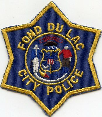 old vintage FOND DU LAC WISCONSIN WI CITY POLICE PATCH