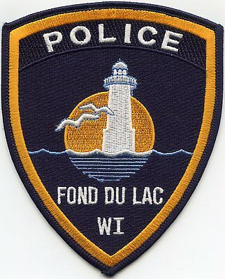 FOND DU LAC WISCONSIN WI lighthouse POLICE PATCH