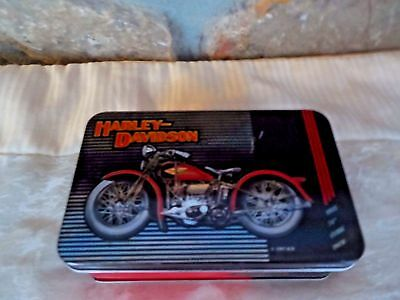 New Harley Davidson Playing Cards In Tin 1997