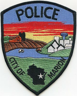 MARION WISCONSIN WI very colorful POLICE PATCH