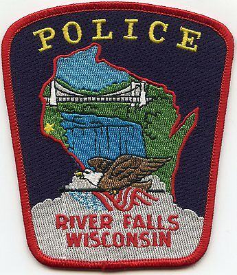 RIVER FALLS WISCONSIN WI colorful POLICE PATCH