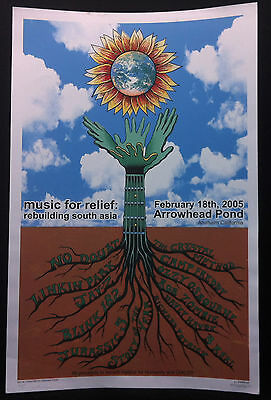MUSIC FOR RELIEF 2005 Emek Signed Concert Poster OZZY NO DOUBT LINKIN PARK JAY Z
