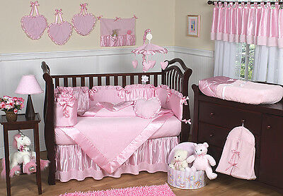 Jojo Designs Luxury Unique Boutique Pink Chenille 9pc Baby Girl Crib Bedding Set