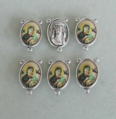 Our Lady of Altagracia MARY Rosary Center ITALY Rosaries Centerpiece E119 Silver