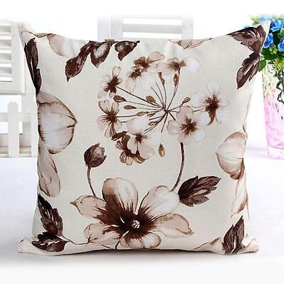 Fashion Flowers Pattern Cloth Sofa Bed Home Decor Pillow Case Cushion Cover