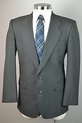 Men's Brown Worsted Wool 2 Button Classic Sport Coat Blazer Jacket (40R)