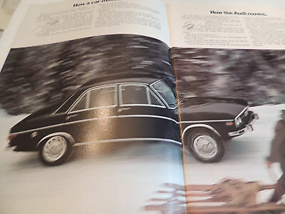 1968-70 Audi 100ls and Super 90  Catalogue Brochure USA Mkt. Scarce