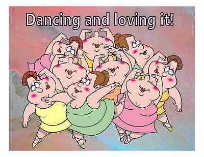 Custom Made T Shirt Dancing And Loving It Big Heavy Women Large Fat Dancers Old